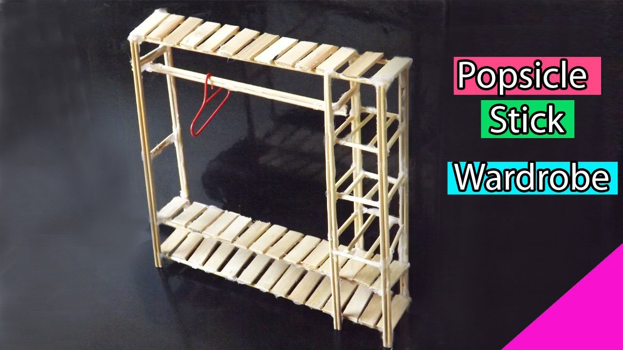 Popsicle Stick Crafts Diy Miniature Furniture Easy