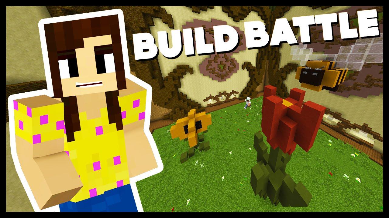 magical flower garden! - team build battle w/biggs87x - minecraft