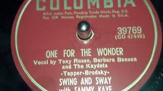 Sammy Kaye - One For The Wonder (1952)
