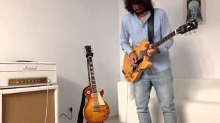 Gibson ES-335 1959 reissue natural and Marshall jtm45 white