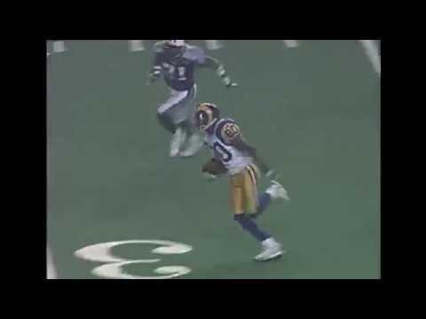 Kurt Warner to Isaac Bruce (Rams vs Titans 1999 Super Bowl XXXIV)