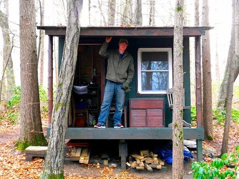Found!- Secret HIDDEN tiny house retreat deep in the woods....
