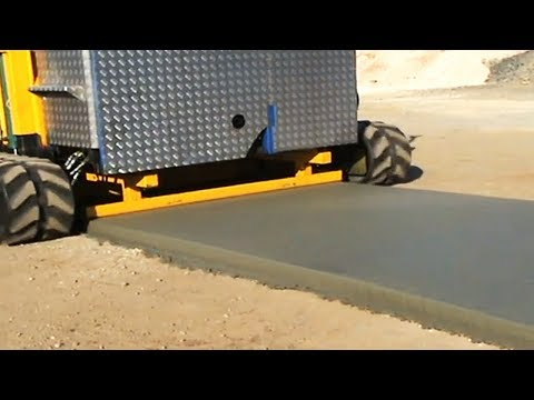 YOU CAN ONLY DREAM ABOUT A MACHINE LIKE THIS. 7 COOL INVENTIONS FOR LAYING ROADS