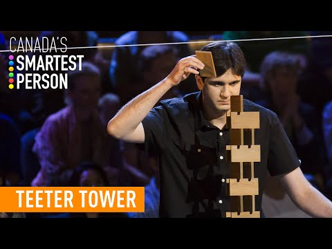 Teeter Tower Challenge | Canada's Smartest Person | CBC