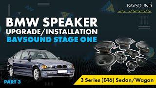 BAVSOUND - 3/3: BMW 3 Series (E46) Sed/Wag Speaker Upgrade Install 3/3.mov