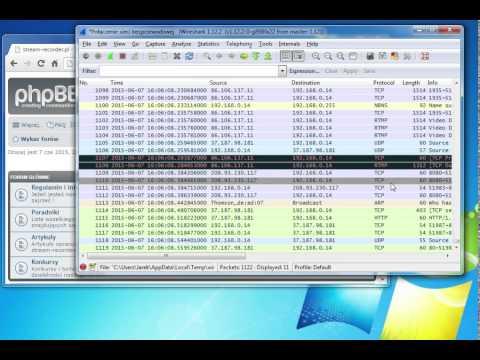 The Wireshark - find rtmp links
