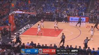Steph Curry Ankle Injury Vs. Clippers