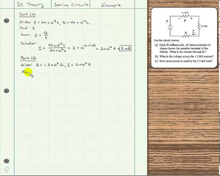 Series Circuit Examples Youtube