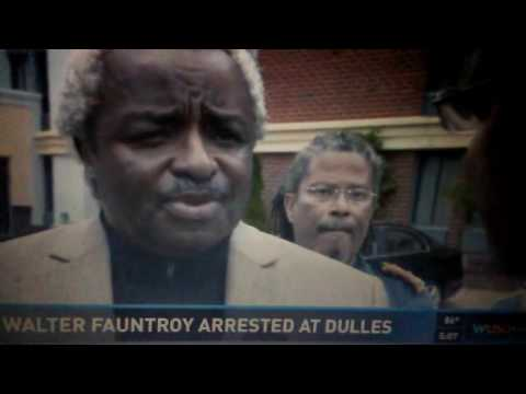Civil rights leader, DC Congressman Walter Fauntroy arrested on U.S. return from Dubai