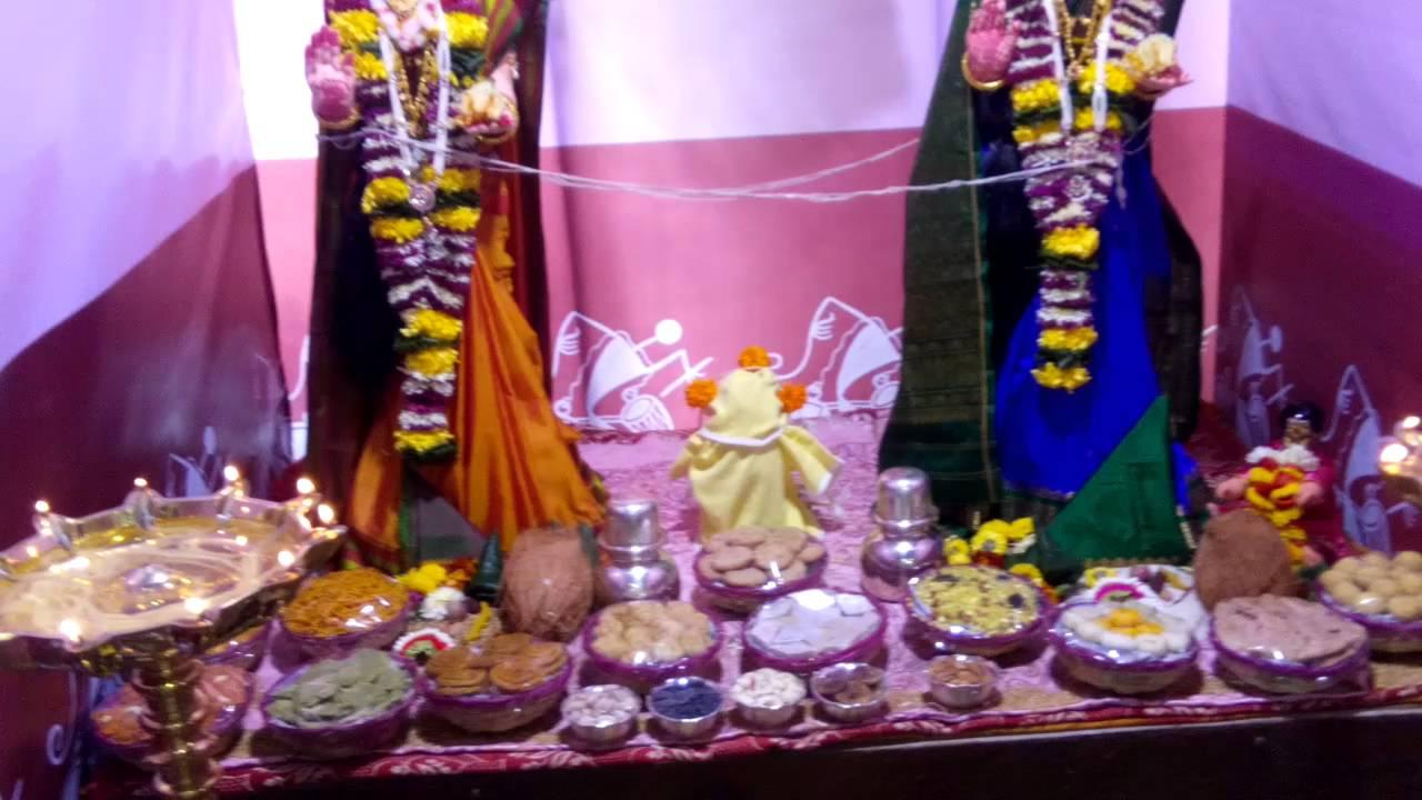 Gauri Ganpati Decoration At Home By Kulkarni Family Youtube