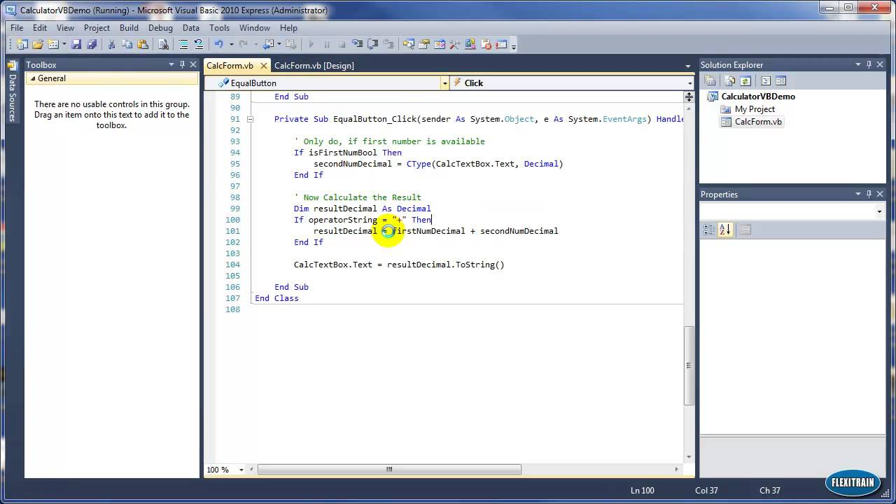Part 4a How To Create Calculator Application In Vb (add Arithmetic  Operations)