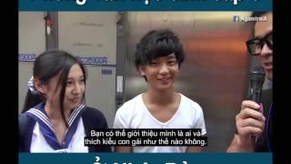 Phỏng Vấn Học Sinh Cấp 3 ở Nhật Bản