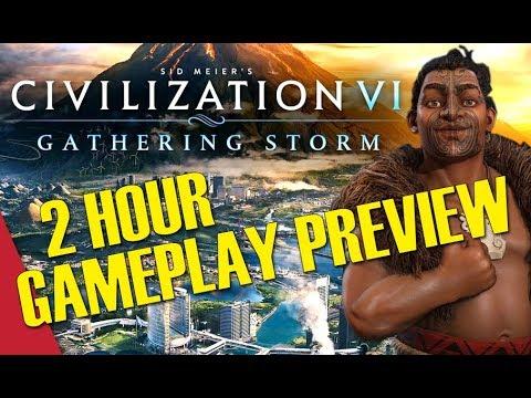 Civilization VI: Gathering Storm - 2 Hour Gameplay Preview (Kupe, Maori)