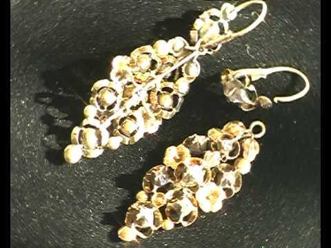 старинные золотые серьги с бриллиантами ХIХвек.avi