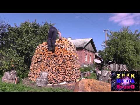 Как сложить поленницу из дров круглую