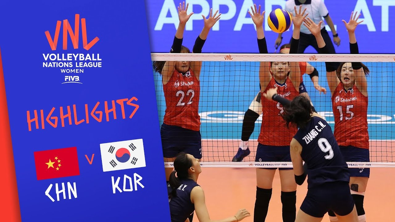CHINA vs. KOREA -  Highlights Women | Week 2 | Volleyball Nations League 2019