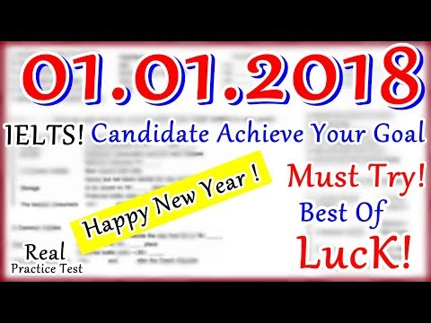 IELTS LISTENING PRACTICE TEST 2018 WITH ANSWERS | 01.01.2018