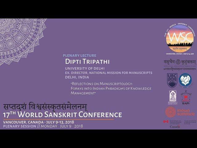WSC2018 Plenary Lecture: Dipti Tripathi