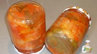 Перец с луком в томатном соку на зиму