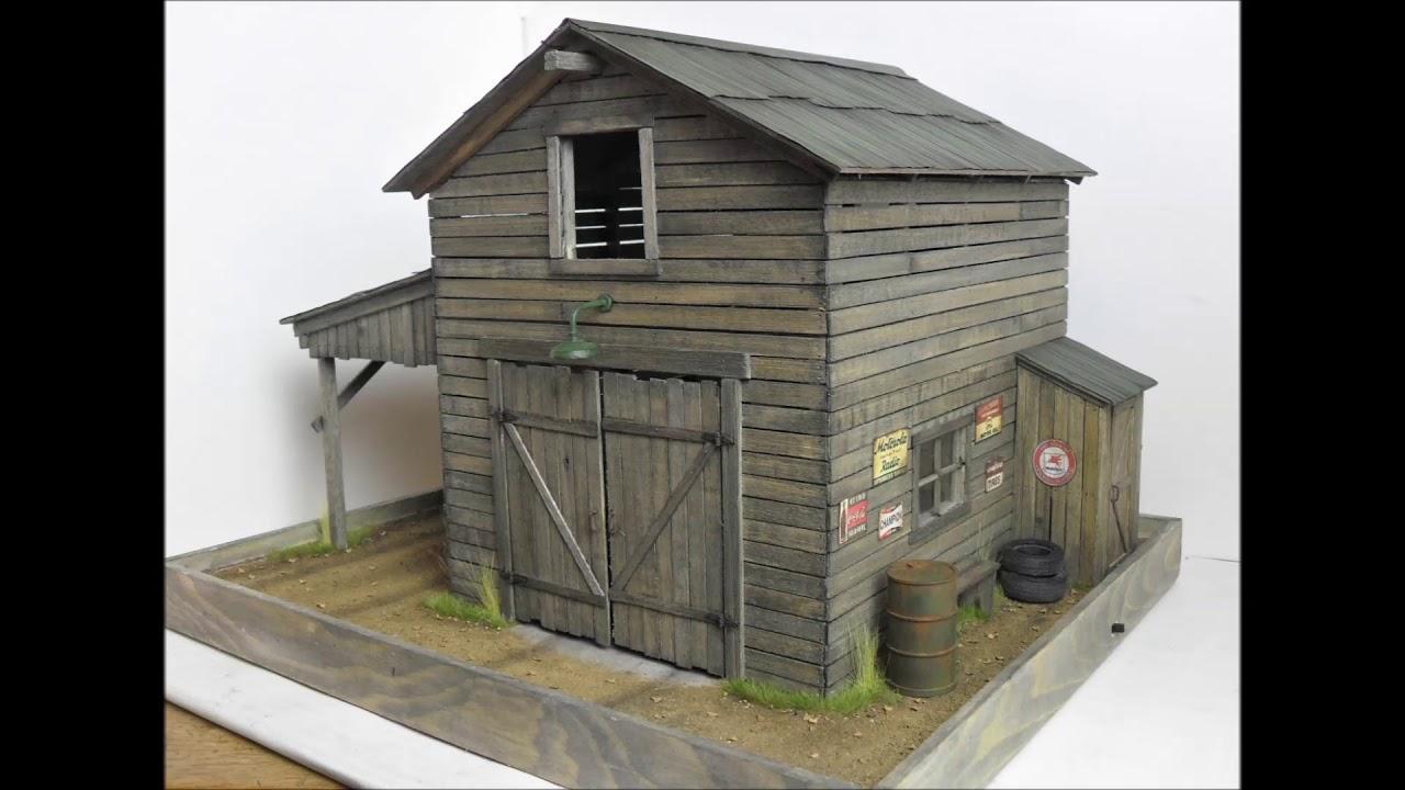 1 24 1 25 Barn Garage Diorama For Sale On Ebay: 1:24 1:25 Danbury Mint / Franklin Mint Barn Diorama 4sale