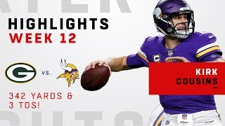 Kirk Cousins Tosses 3 TDs in Victory Over GB