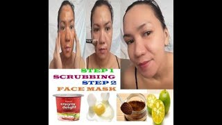 GLASS SKIN IN JUST 30 MINUTES TWO STEP SCRUBBING AND FACE MASK