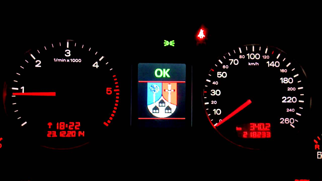 Audi A4 B7 Fis Control Symbol Hausen Youtube
