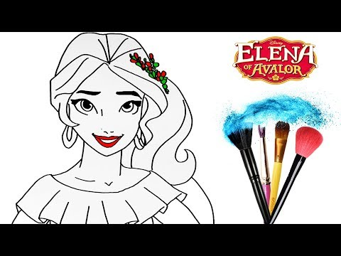 How to Draw & Color Elena of Avalor   Drawing Disney Princess Makeup   Baby Toddlers Learn Colors HD Mp3