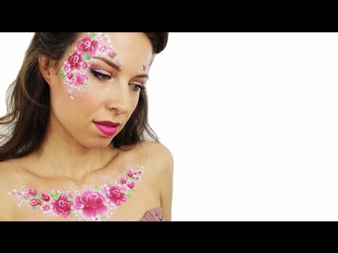 Valentine Rose Face Painting | Ashlea Henson