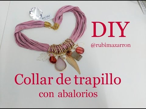 e3055187c098 Diy. Collar de trapillo con abalorios reciclados - YouTube