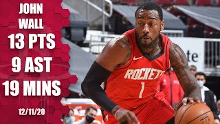 Watch highlights of john wall in his preseason debut with the houston rockets, as he finishes 13 points and nine assists 19 minutes against chica...