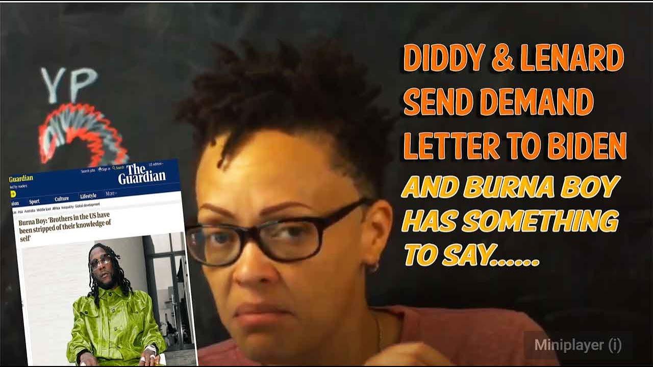 "Diddy & Charlamagne Demand Biden Pick a Black Woman VP, And ""Burna Boy"" Who?"