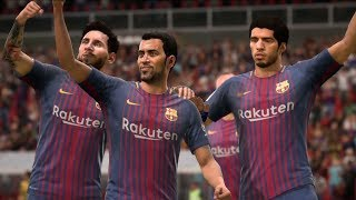 FIFA 18 - FC Barcelona vs Borussia Dortmund - Gameplay (HD) [1080p60FPS]
