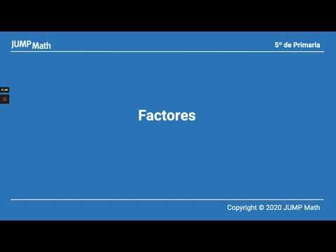 5. Unidad 5. Factores