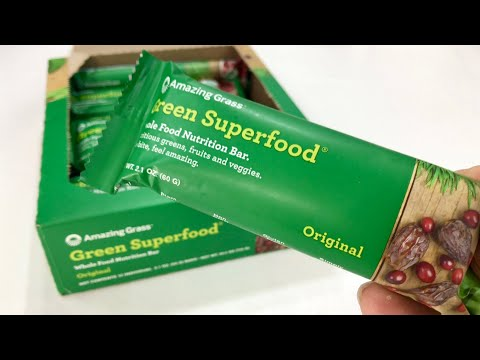 Amazing Grass Green Superfood Whole Food Nutrition Bar Taste Test
