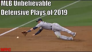MLB Unbelievable Defensive Plays Of 2019 Compilation