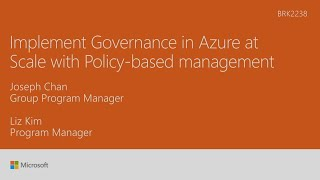 Implement governance in Microsoft Azure at scale with policy-based management