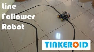 Line Follower Tinkeroid Robot