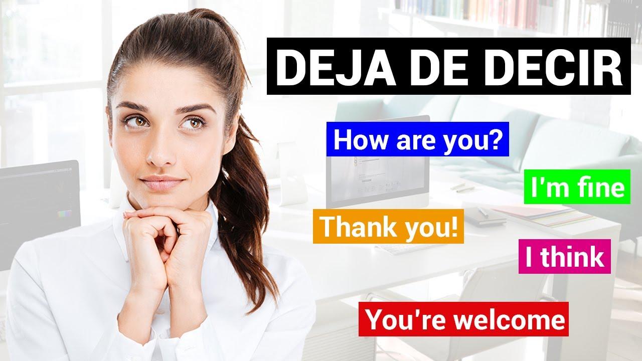 DEJA DE USAR ESTE VOCABULARIO EN INGLÉS! | Mejora Tu Inglés Y Habla Igual Que Un Nativo