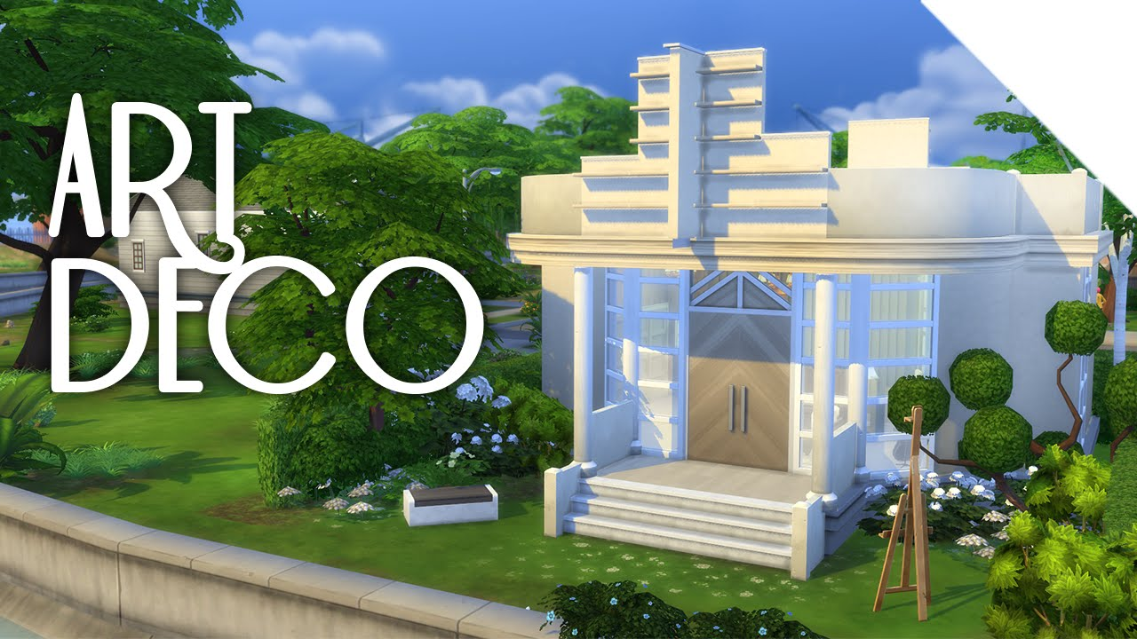 Little art deco the sims 4 build youtube for Deco appartement sims 4