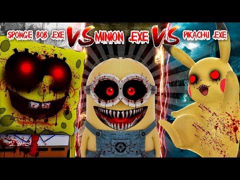 Minecraft Pokemon go pikachu .exe vs Minions.exe vs Spongbob.exe - WHO IS THE STRONGEST .EXE??