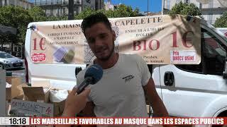 Le 18:18 : les Marseillais favorables au port du masque dans les espaces publics extérieurs