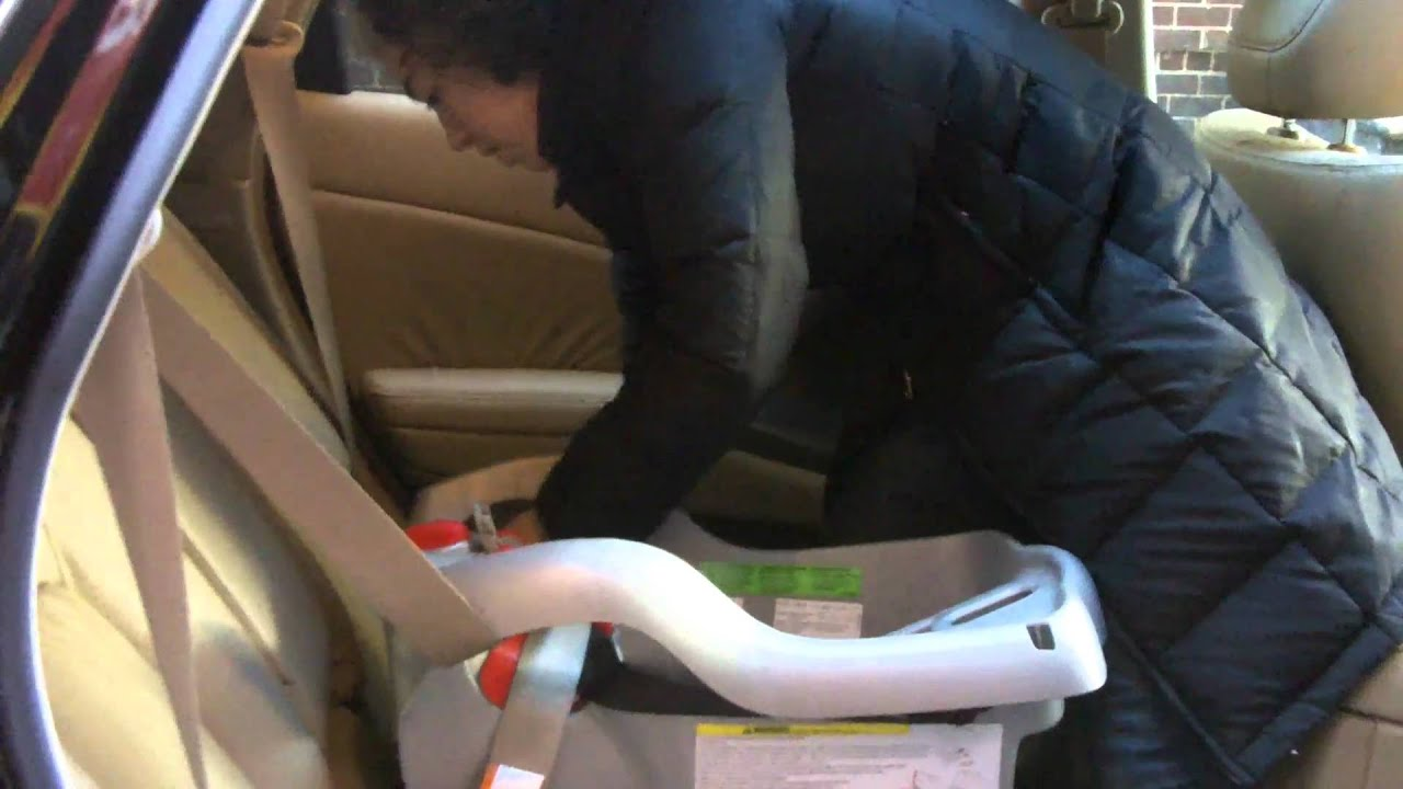 How To Install A Graco Snug Ride 32 Or 35 Classic Connect Using Seat Belt