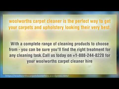 Woolworths carpet cleaner hire youtube woolworths carpet cleaner hire solutioingenieria Choice Image