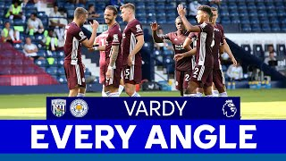 EVERY ANGLE | Jamie Vardy (second goal) vs. West Bromwich Albion | 2020/21
