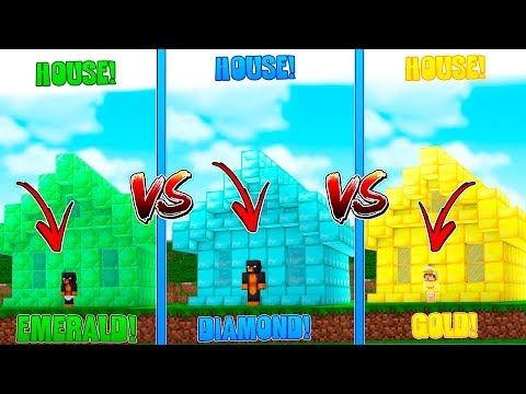 Minecraft DONUTS EMERALD HOUSE VS BABY DUCKS GOLD HOUSE VS BABY MAX'S DIAMOND HOUSE!! thumbnail