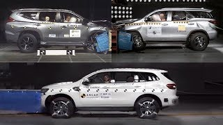 Download Video 2017 Toyota Fortuner v Pajero Sport v Ford Everest Endeavour - Crash Test MP3 3GP MP4