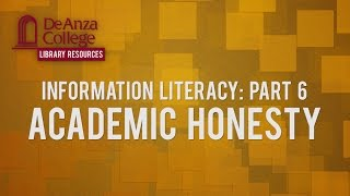DEANZACOLLEGE Academic Integrity is fundamental to your success as ...