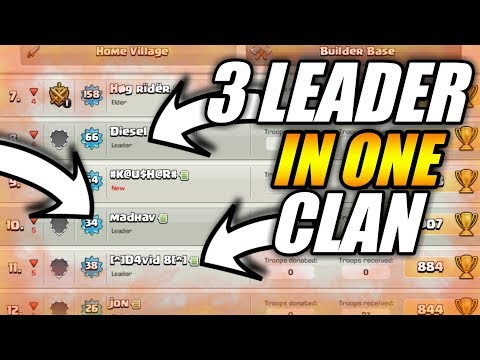 3 LEADER'S IN ONE CLAN? HOW MULTIPLE LEADER IN CLASH OF CLANS