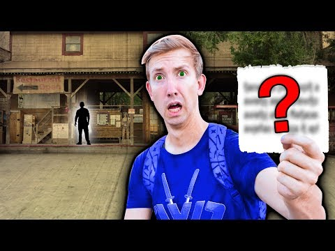 ESCAPE PROJECT ZORGO Trap in ABANDONED GHOST TOWN (Found Treasure Map & Secret Note)